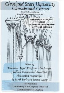 CSU Choral Concert @ ST Peter Church